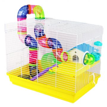 Pet Ting Yellow Peach Rodent Cage